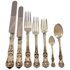 English King by Tiffany Sterling Silver Flatware Set Service 42 Pieces Dinner