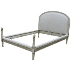 English King Size French Bed in Linen