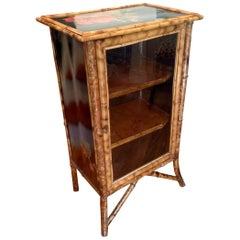 English Lacquered Bamboo Bookcase