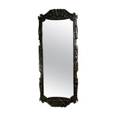 English Large Carved Beveled Mirror