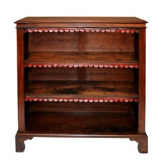 English Late 18th Century George III Mahogany Open Bookcase, circa 1790