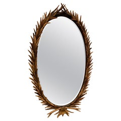 English Late 19th Century Antler Mirror