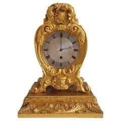 English Late English Regency Ormolu Mantel Clock by Vulliamy