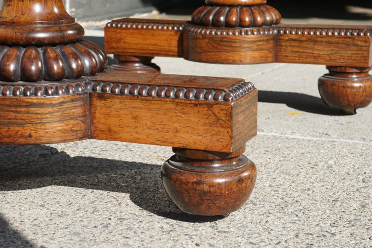 English Late Regency Period Small Rosewood Writing Table Attributed to Gillows 7