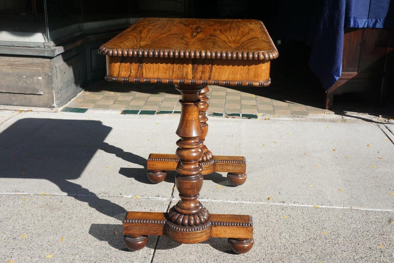 Early 19th Century English Late Regency Period Small Rosewood Writing Table Attributed to Gillows