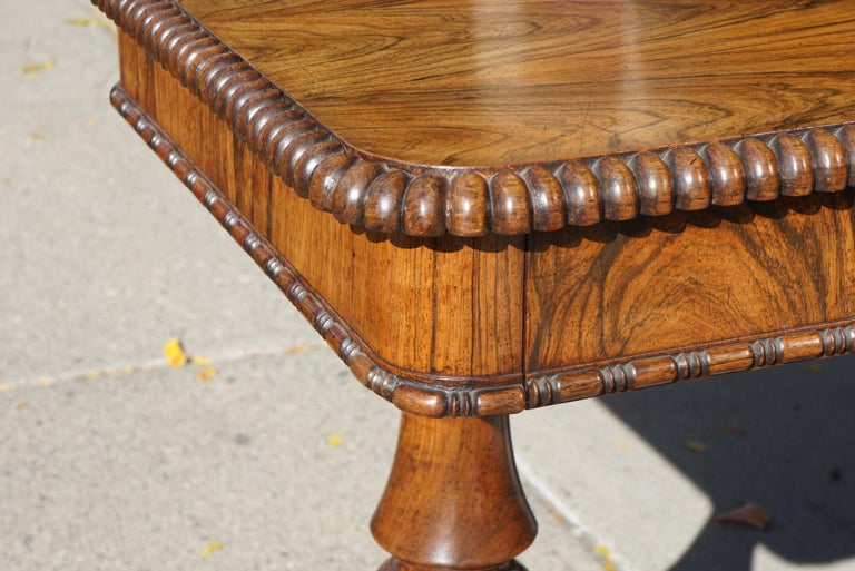 English Late Regency Period Small Rosewood Writing Table Attributed to Gillows 2