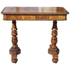 English Late Regency Period Small Rosewood Writing Table Attributed to Gillows