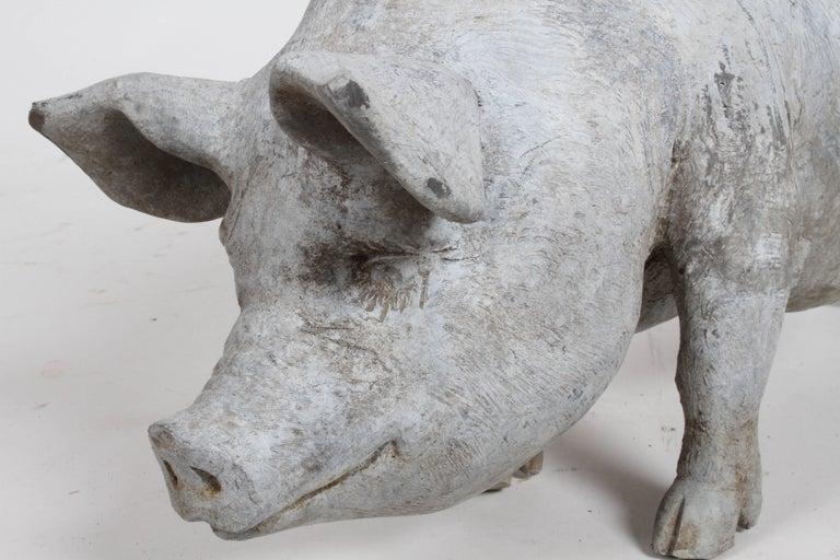 English Lead Pig Garden Ornament, circa 1950s For Sale 2