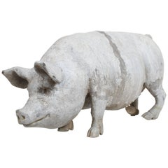 English Lead Pig Garden Ornament, circa 1950s