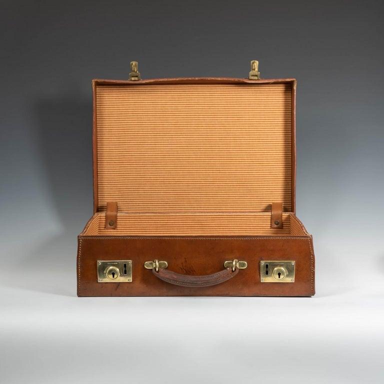 English Leather Attaché Case, circa 1940 For Sale 3