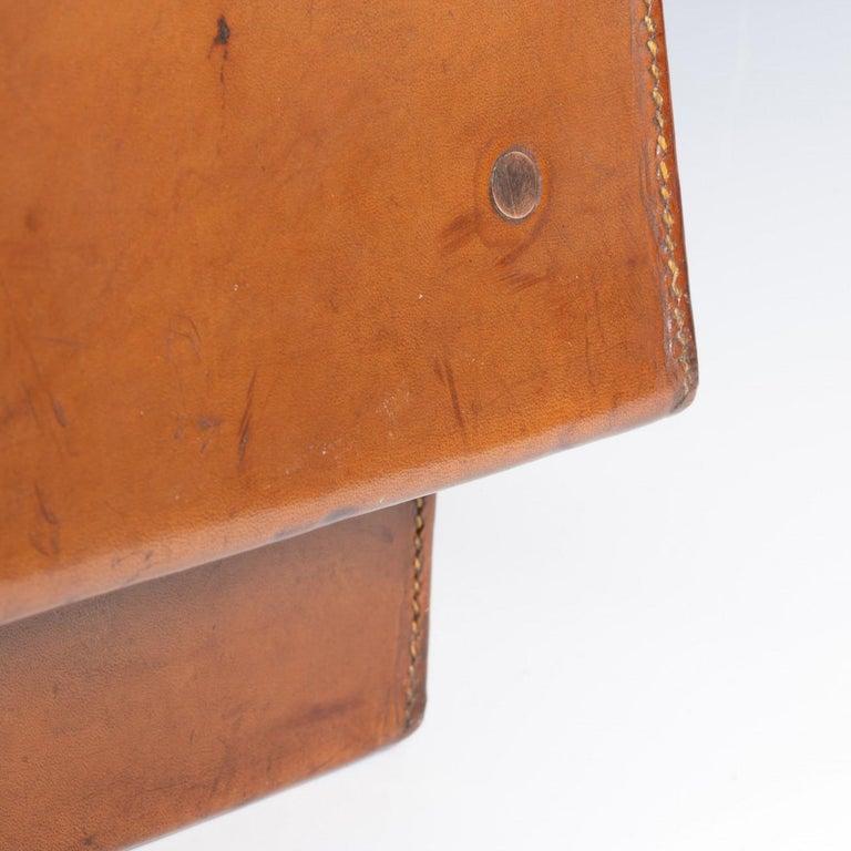 English Leather Attaché Case, circa 1940 For Sale 6