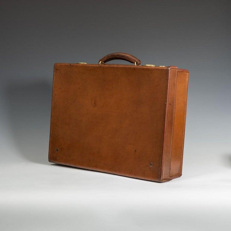 British English Leather Attaché Case, circa 1940 For Sale
