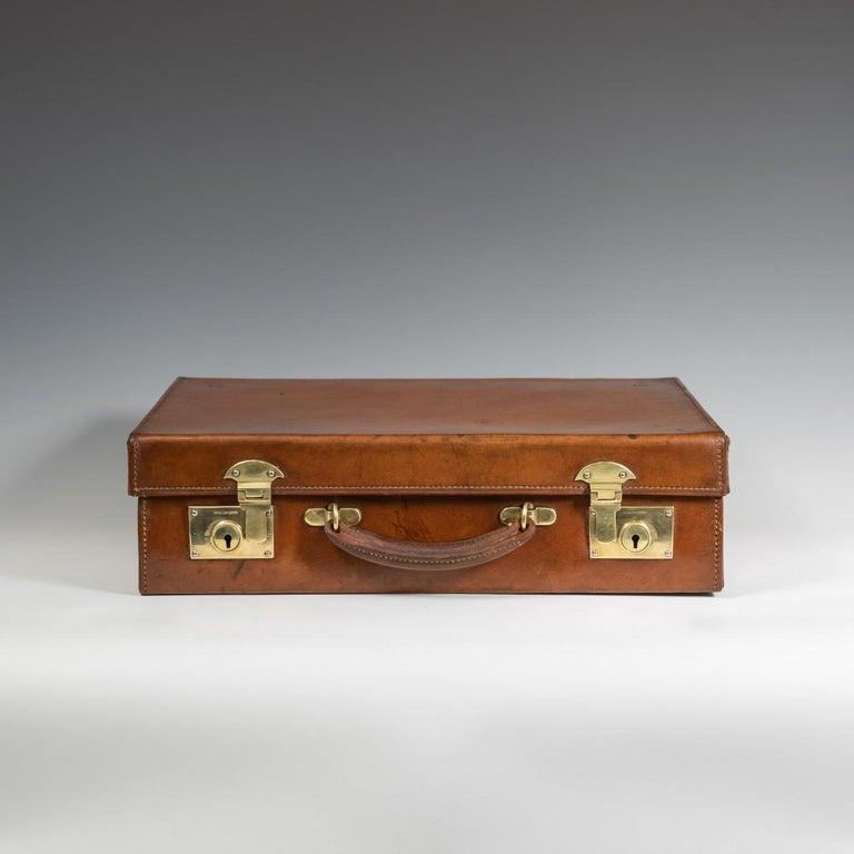 Mid-20th Century English Leather Attaché Case, circa 1940 For Sale