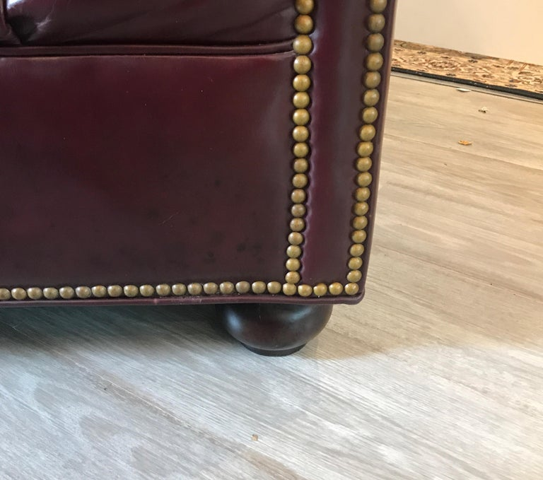 English Leather Chesterfield Sofa 6