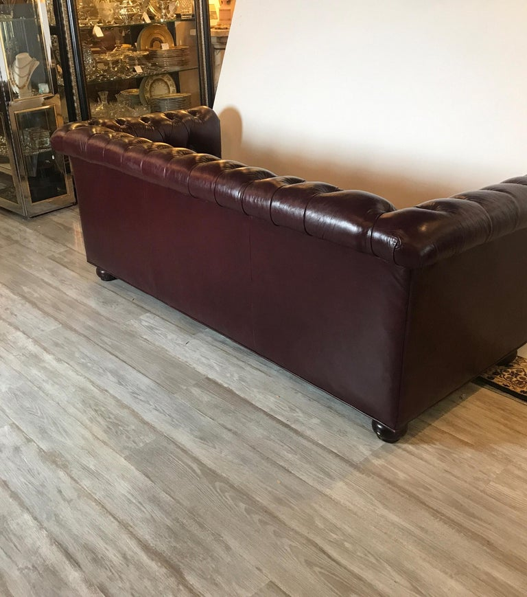 English Leather Chesterfield Sofa 2