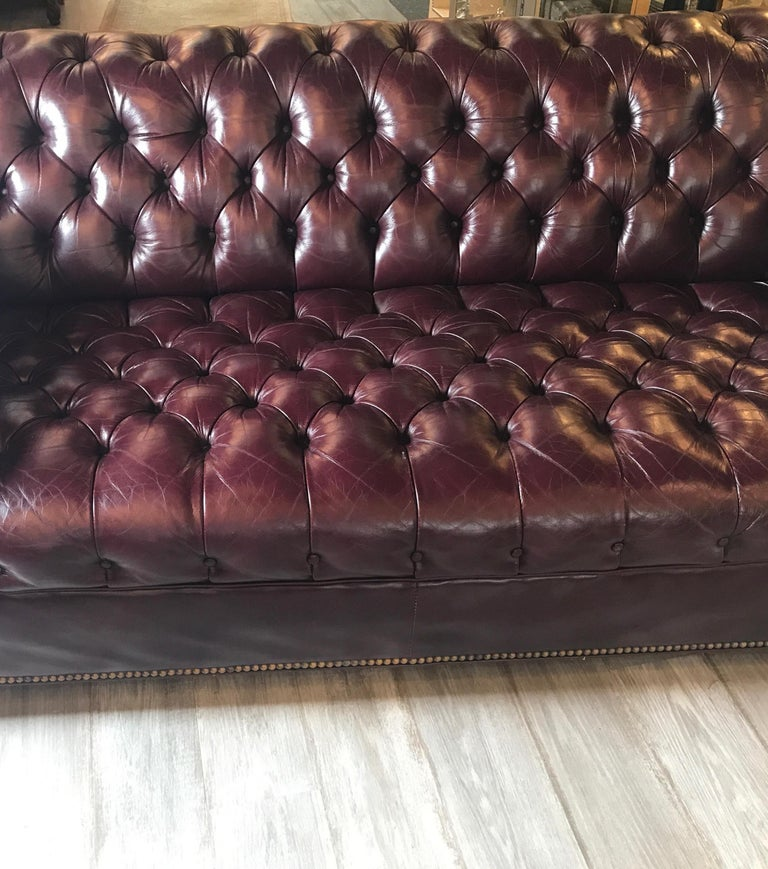 English Leather Chesterfield Sofa 3
