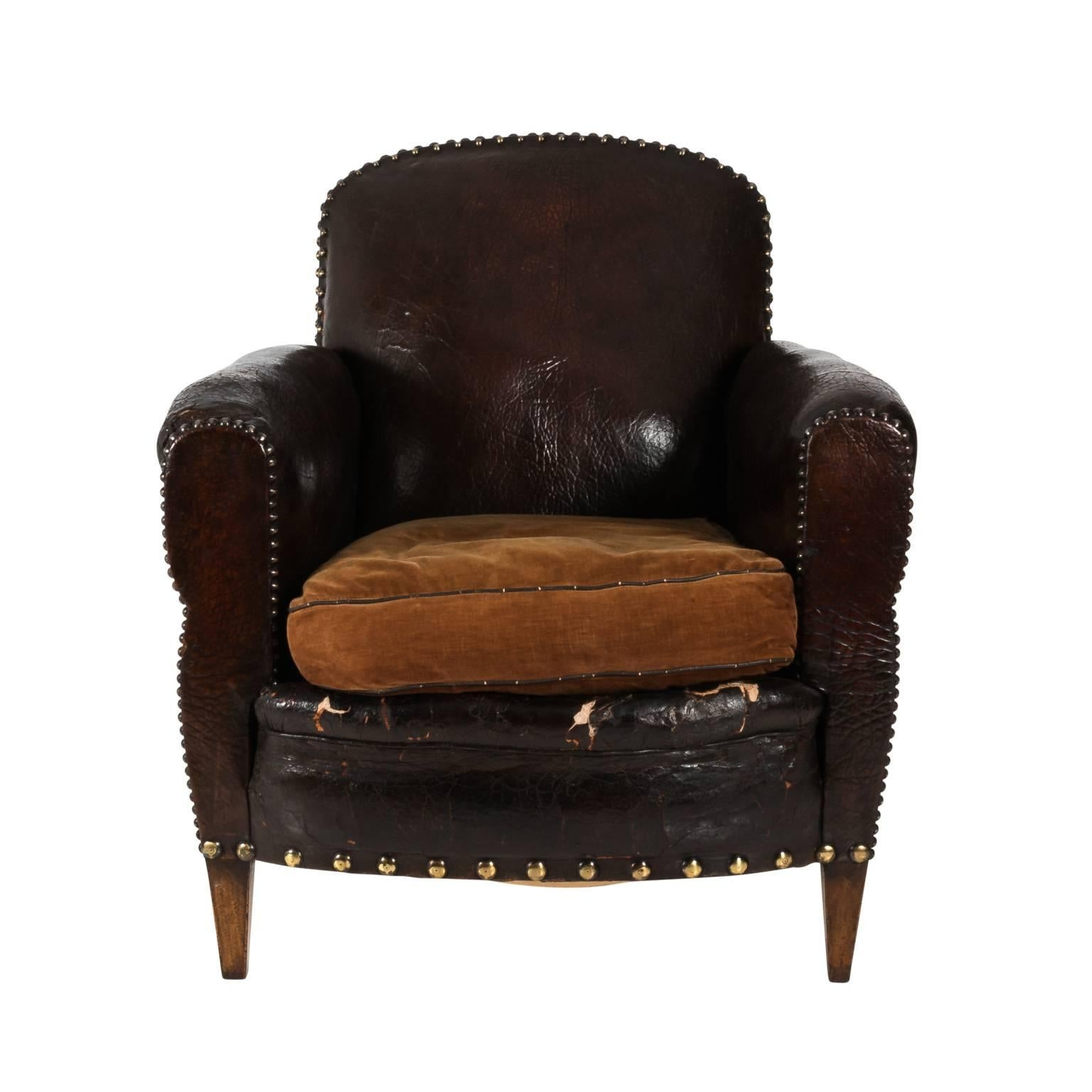 Delicieux English Leather Club Chair For Sale
