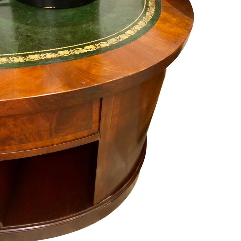 Mid-20th Century English Leather Top Coffee Table For Sale