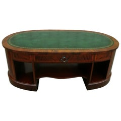 English Leather Top Coffee Table
