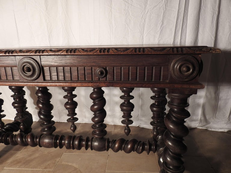 English Library Table, 19th Century For Sale 9