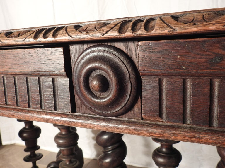 Woodwork English Library Table, 19th Century For Sale