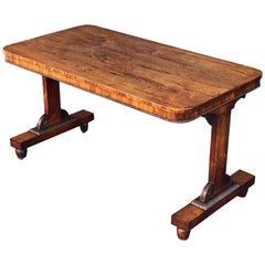 English Library Table of Rosewood from the Regency Era