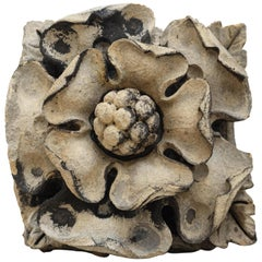 English Limestone Tudor Rose Fragment, 16th Century
