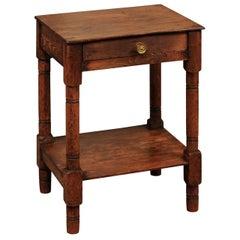 English Low Pine Drink Table, circa 1900