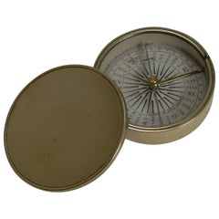 English Made Brass Cased Explorers Compass for Peter Orr, Madras, circa 1880