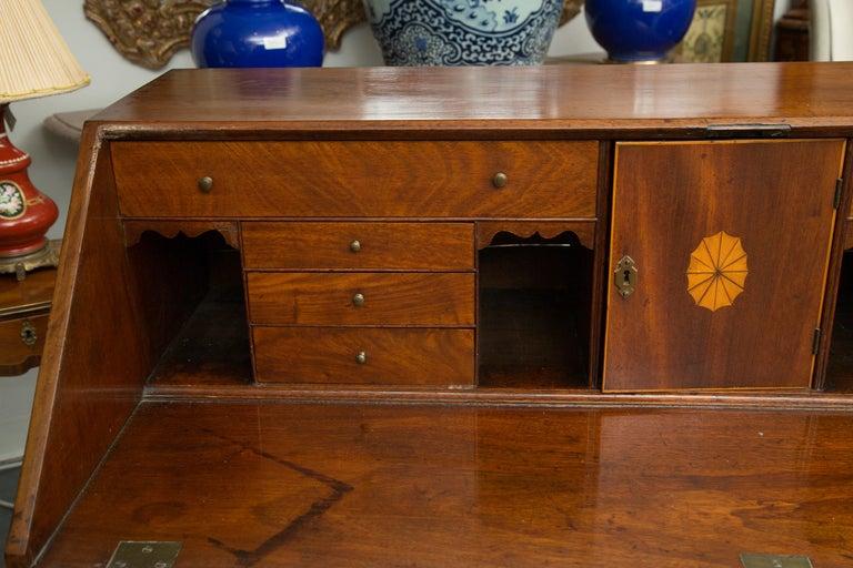 English Mahogany 18th Century Slant Top Desk For Sale 7