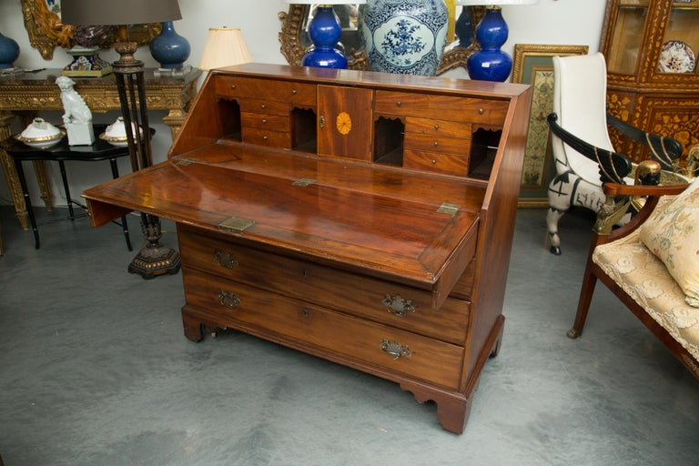 George III English Mahogany 18th Century Slant Top Desk For Sale