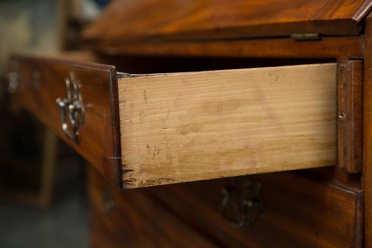 English Mahogany 18th Century Slant Top Desk For Sale 3