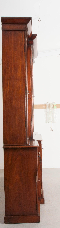 English Mahogany 19th Century Georgian Breakfront Bookcase Desk For Sale 3