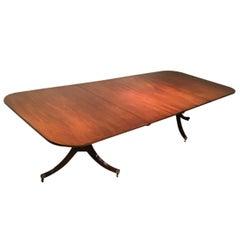 English Mahogany 2-Pedestal Dining Table