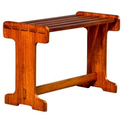 English Mahogany Arts & Crafts Luggage Stand Bench or Table