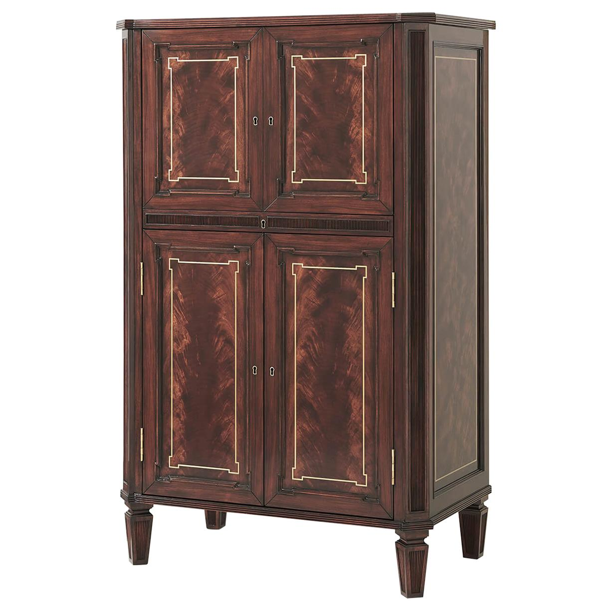 English Mahogany Bar Cabinet