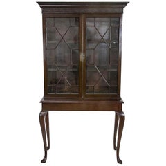 English Mahogany Book/Display Case