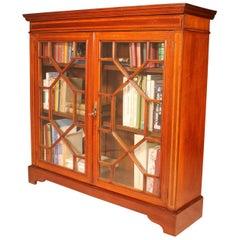 English Mahogany Bookcase Edwardian