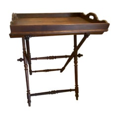 English Mahogany Butler's Table