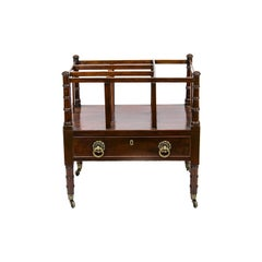 English Mahogany Canterbury Bookrack