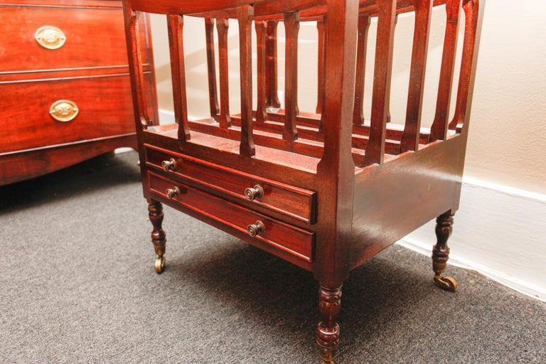 English Mahogany Canterbury or Folio Rack with Three Open Slats, 19th Century In Good Condition For Sale In Savannah, GA