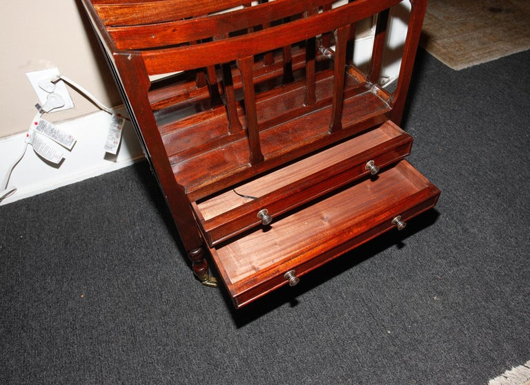 English Mahogany Canterbury or Folio Rack with Three Open Slats, 19th Century For Sale 2