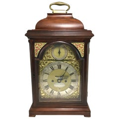English Mahogany Case Bracket Clock, James Gibbs London, circa 1740