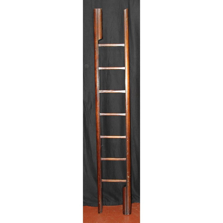 Early Victorian English Mahogany Folding Ladder For Sale