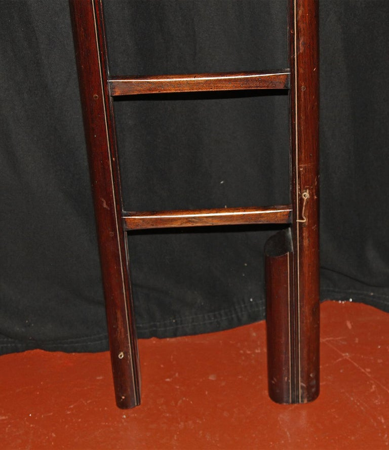 Mid-19th Century English Mahogany Folding Ladder For Sale