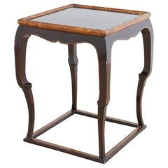 English Mahogany Lacquered Side Table or Drinks Table