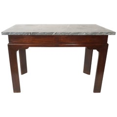 English Georgian Marble Top Mahogany Slab or Side Table, circa 1760