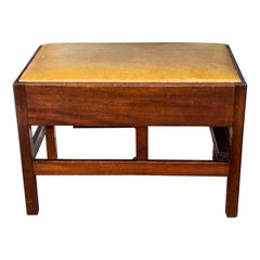 English Mahogany Metamorphic Bench to Form of Library Steps Late 18th Century