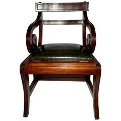 English Mahogany Metamorphic Library Chair