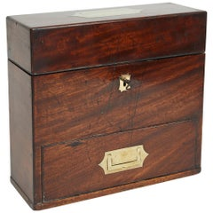 English Mahogany Military Campaign Medical Box